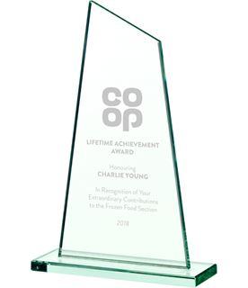"""Peak Jade Glass Plaque Award 20.5cm (8"""")"""