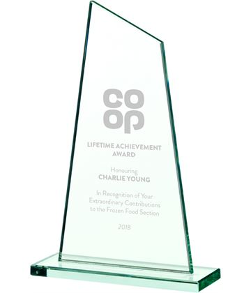 "Peak Jade Glass Plaque Award 20.5cm (8"")"