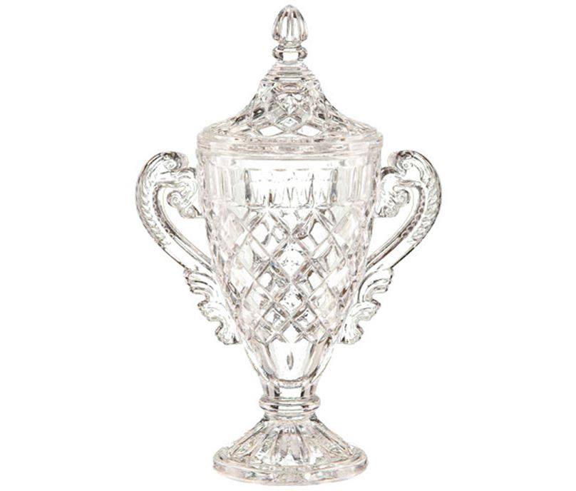 "Lindisfarne Champion Cut Crystal Vase & Lid 27cm (10.5"")"