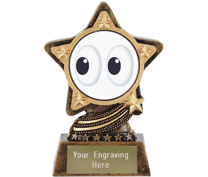 "Eyes Emoji Trophy by Infinity Stars 10cm (4"")"