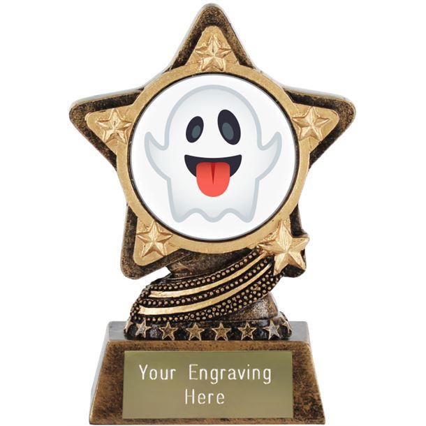 "Ghost Emoji Trophy by Infinity Stars 10cm (4"")"