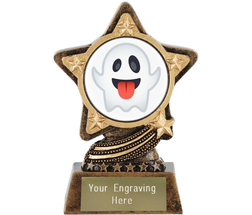 "Ghost Emoji Trophy by Infinity Stars 10cm (4"")"