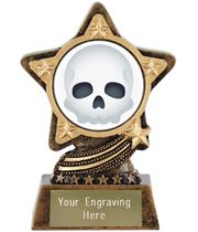 "Skull Emoji Trophy by Infinity Stars 10cm (4"")"