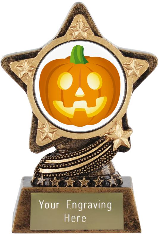 """Jack O Lantern Emoji Trophy by Infinity Stars 10cm (4"""")"""