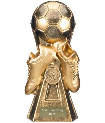 "Gravity Football Trophy Antique Gold 30cm (11.75"")"