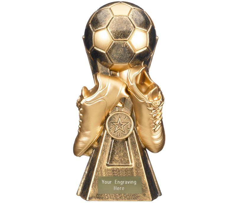 "Gravity Football Trophy Antique Gold 26cm (10.25"")"