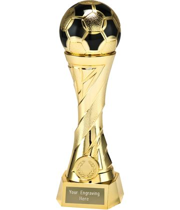 "Football Trophy Heavyweight Sculpture Gold 23cm (9"")"