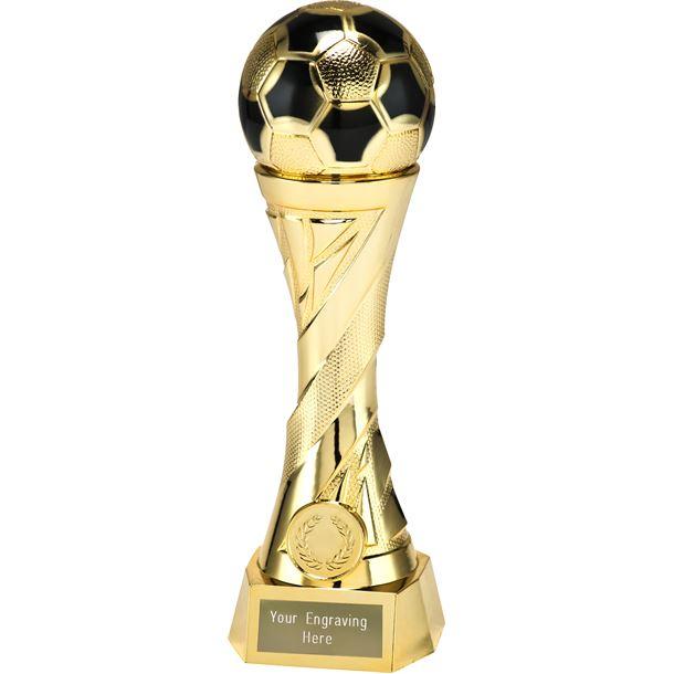 """Football TrophyHeavyweight Sculpture Gold 27cm (10.5"""")"""