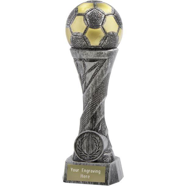 """Football TrophyHeavyweight Sculpture Antique Silver 23cm (9"""")"""