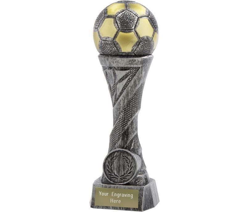 """Football TrophyHeavyweight Sculpture Antique Silver 27cm (10.5"""")"""