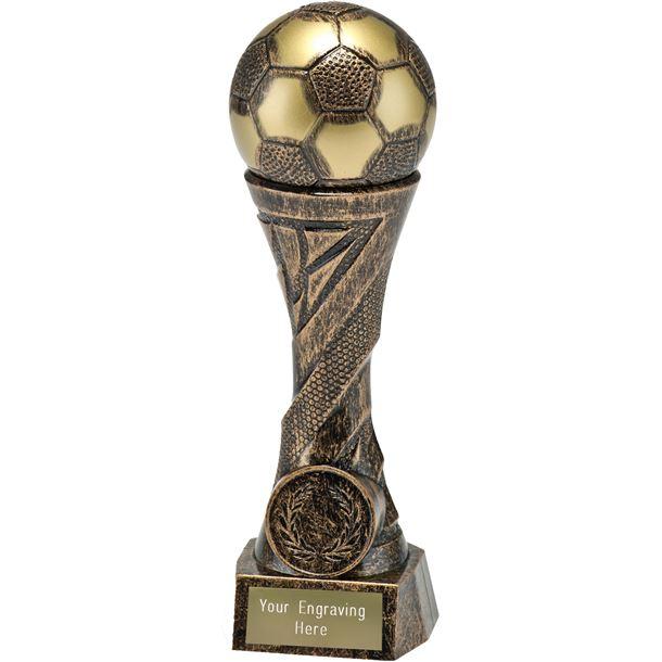 """Football TrophyHeavyweight Sculpture Antique Bronze 23cm (9"""")"""