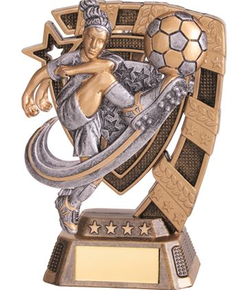 "Euphoria Female Football Trophy 13cm (5"")"