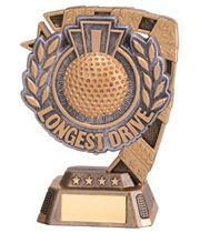 "Euphoria Longest Drive Golf Trophy 13cm (5"")"