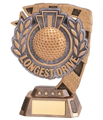 "Euphoria Longest Drive Golf Trophy 13cm (5"")"
