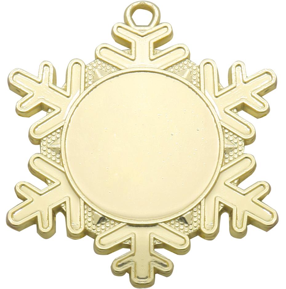 "Snowflake Emoji Medal Gold 50mm (2"")"