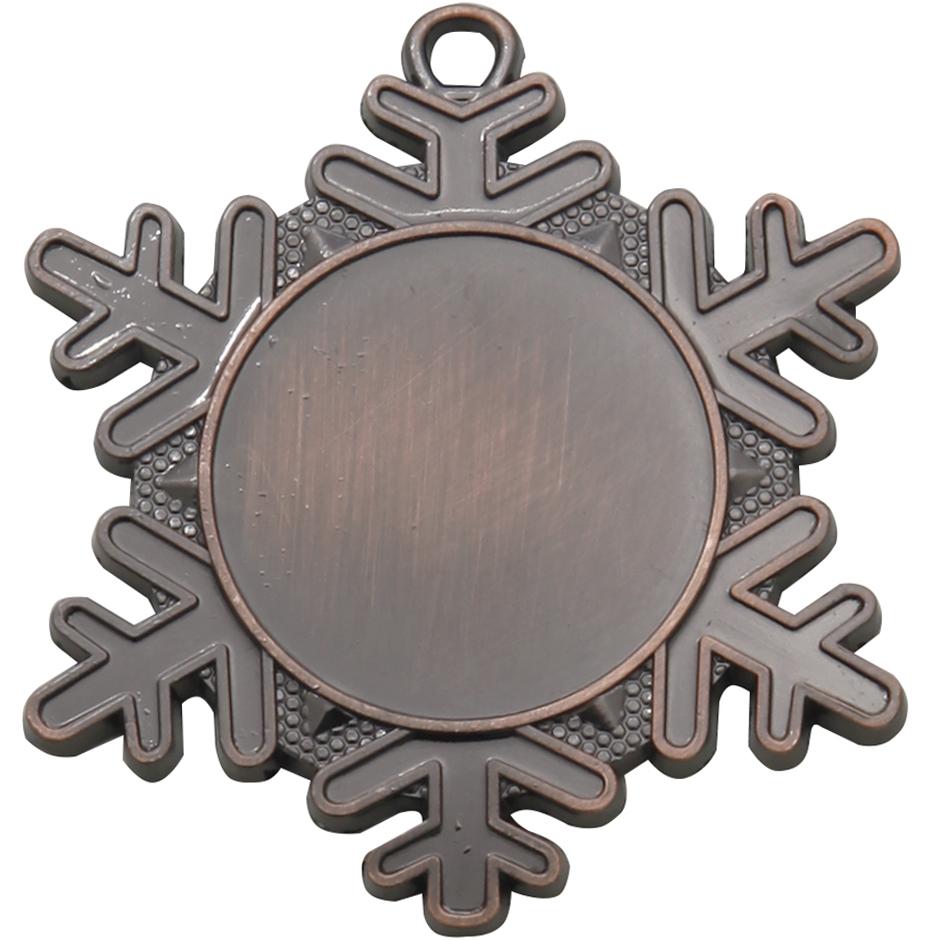 "Snowflake Emoji Medal Bronze 50mm (2"")"