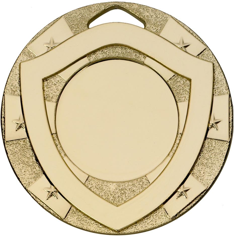 """Mini Shield Emoji Medal Gold 50mm (2"""")"""