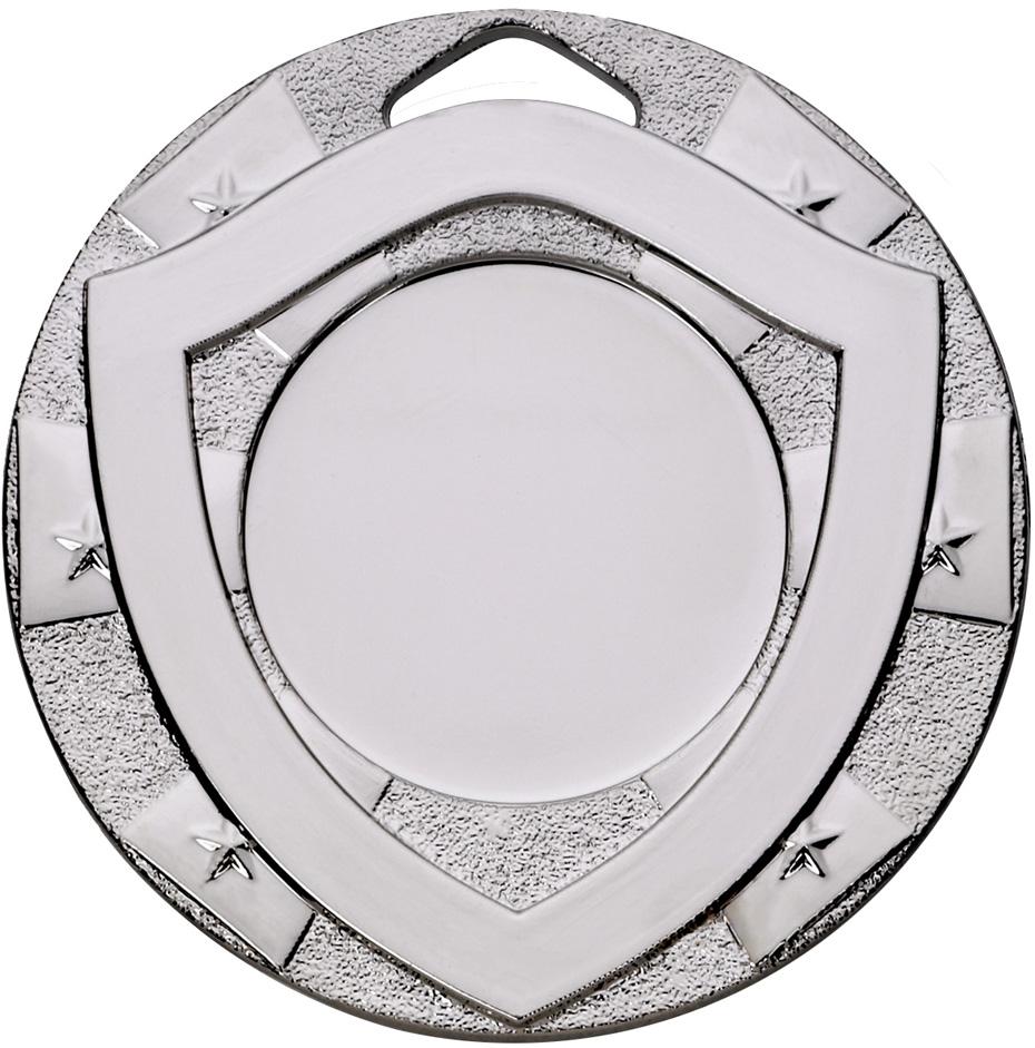 "Mini Shield Emoji Medal Silver 50mm (2"")"