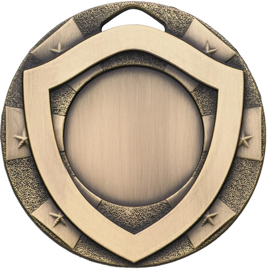 "Mini Shield Emoji Medal Bronze 50mm (2"")"