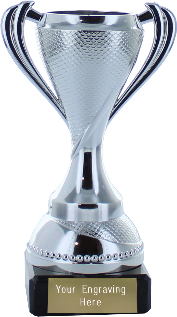 "Trophy Cup on Marble Base Silver 13cm (5.25"")"