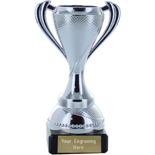 """Trophy Cup on Marble Base Silver 13cm (5.25"""")"""