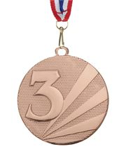 "3rd Place Medal Bronze With Medal Ribbon 50mm (2"")"