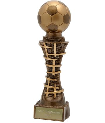 "Golden Gate Football Trophy Antique Gold 16cm (6.25"")"