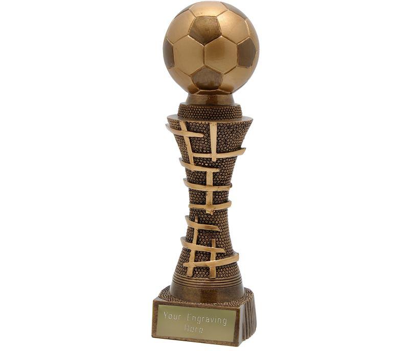 "Golden Gate Football Trophy Antique Gold 24cm (9.5"")"