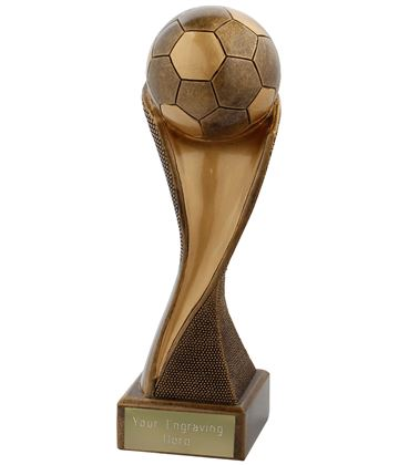 "Football Groove Trophy Antique Gold 17cm (6.75"")"