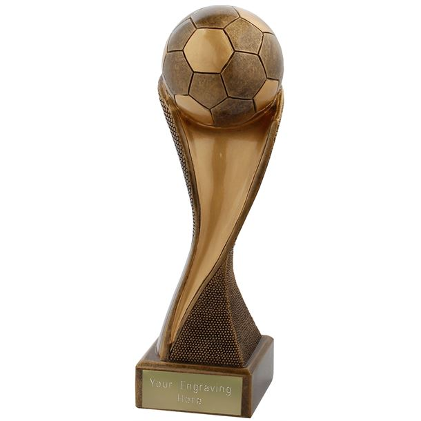 "Football Groove Trophy Antique Gold 19.5cm (7.75"")"