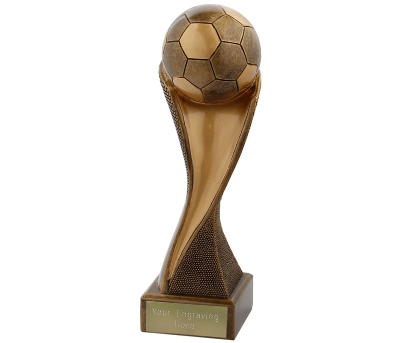 "Football Groove Trophy Antique Gold 27cm (10.75"")"