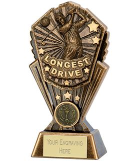 "Golf Longest Drive Cosmos Trophy 17.5cm (7"")"