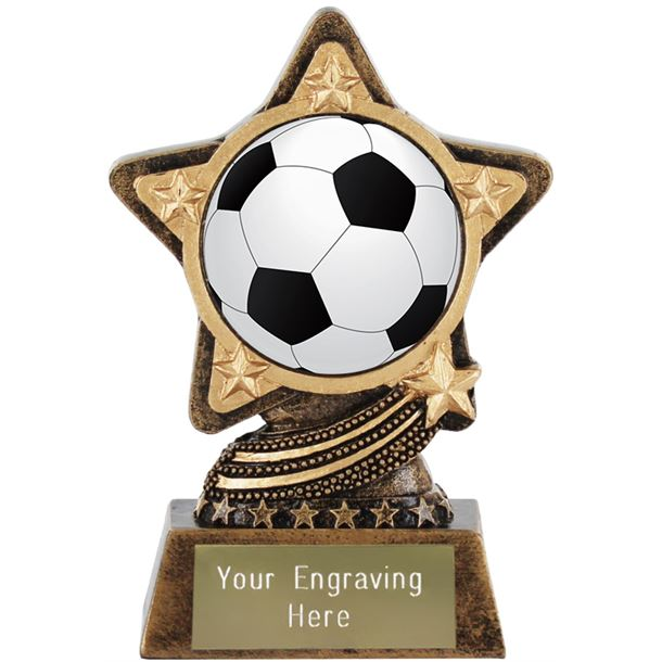 """Centre Football Trophy by Infinity Stars 10cm (4"""")"""