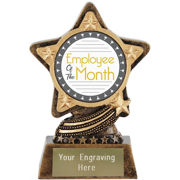 """Employee Of The Month Trophy by Infinity Stars 10cm (4"""")"""