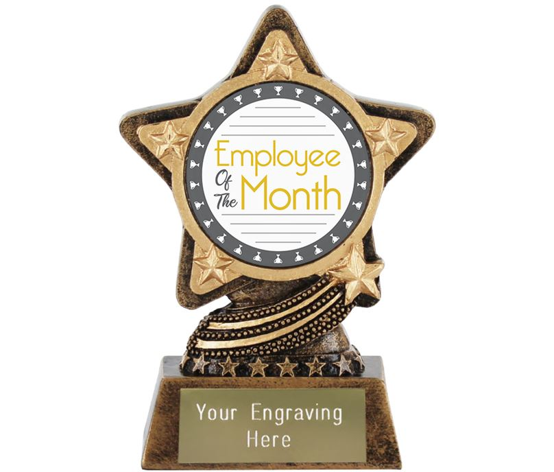 "Employee Of The Month Trophy by Infinity Stars 10cm (4"")"