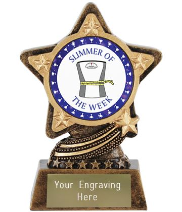 "Slimmer Of The Week Trophy by Infinity Stars 10cm (4"")"