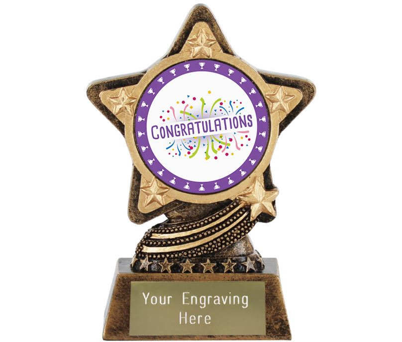 """Congratulations Trophy by Infinity Stars 10cm (4"""")"""