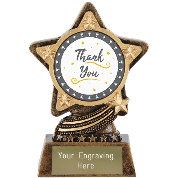 """Thank You Trophy by Infinity Stars 10cm (4"""")"""