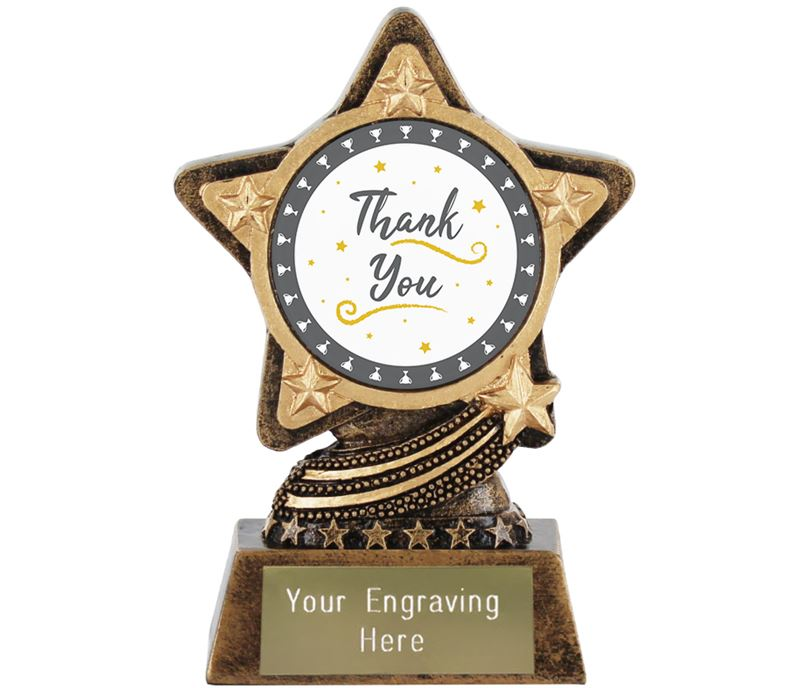 "Thank You Trophy by Infinity Stars 10cm (4"")"