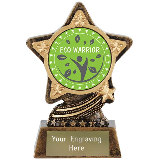"Eco Warrior Trophy by Infinity Stars 10cm (4"")"