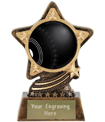 """Centre Bowls Trophy by Infinity Stars 10cm (4"""")"""
