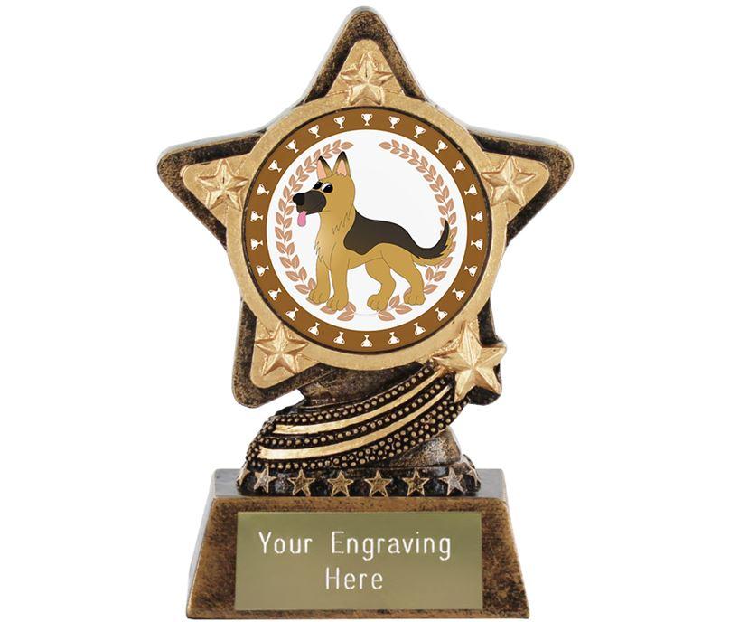 "German Shepherd Trophy by Infinity Stars 10cm (4"")"