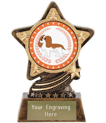 "King Charles Spaniel Dog Trophy by Infinity Stars 10cm (4"")"