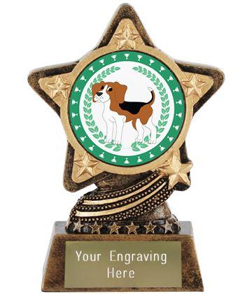 "Beagle Dog Trophy by Infinity Stars 10cm (4"")"