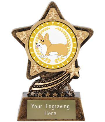 "Corgi Dog Trophy by Infinity Stars 10cm (4"")"