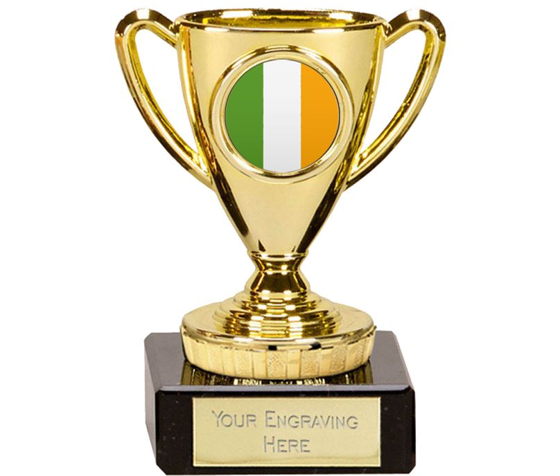 "Irish Trophy Mini Cup Gold 10cm (4"")"