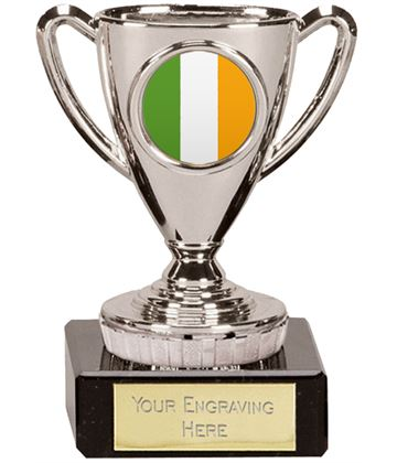 "Irish Trophy Mini Cup Silver 10cm (4"")"