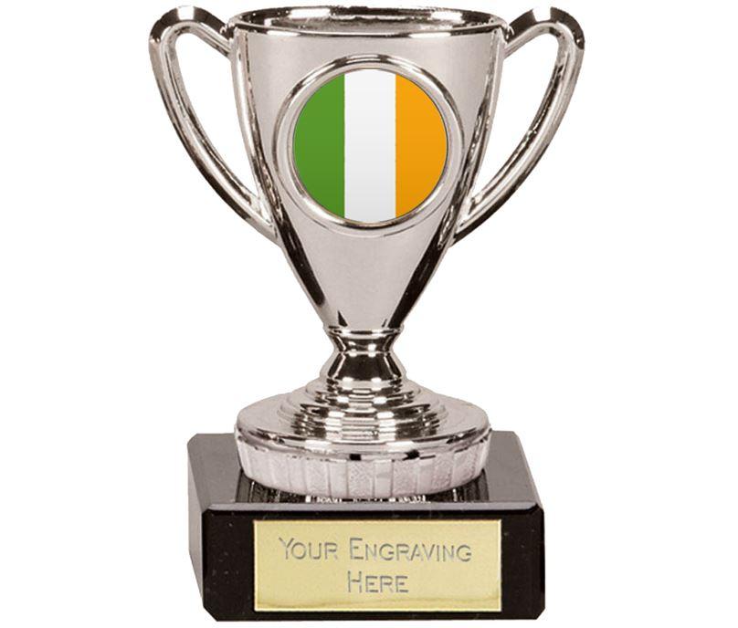 "Irish Trophy Mini Cup Silver 10cm (4"")"