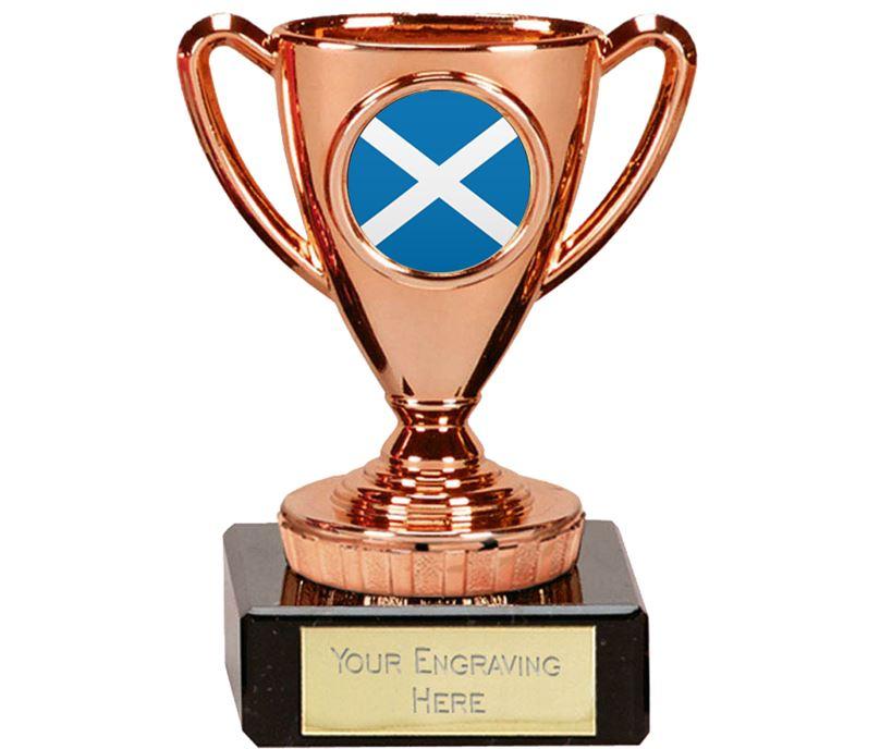 "Scottish Trophy Mini Cup Bronze 10cm (4"")"