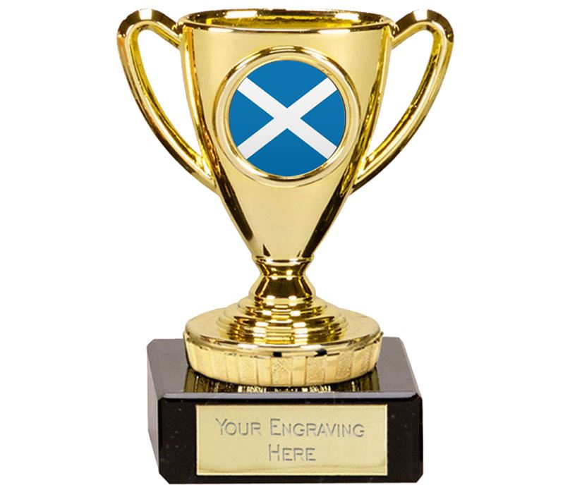 "Scottish Trophy Mini Cup Gold 10cm (4"")"